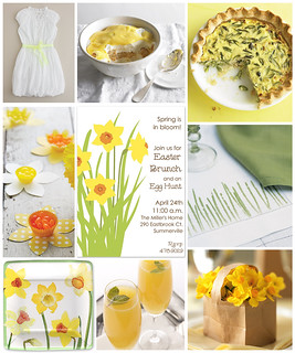 Daffodil Inspired Easter Brunch | by finestationery