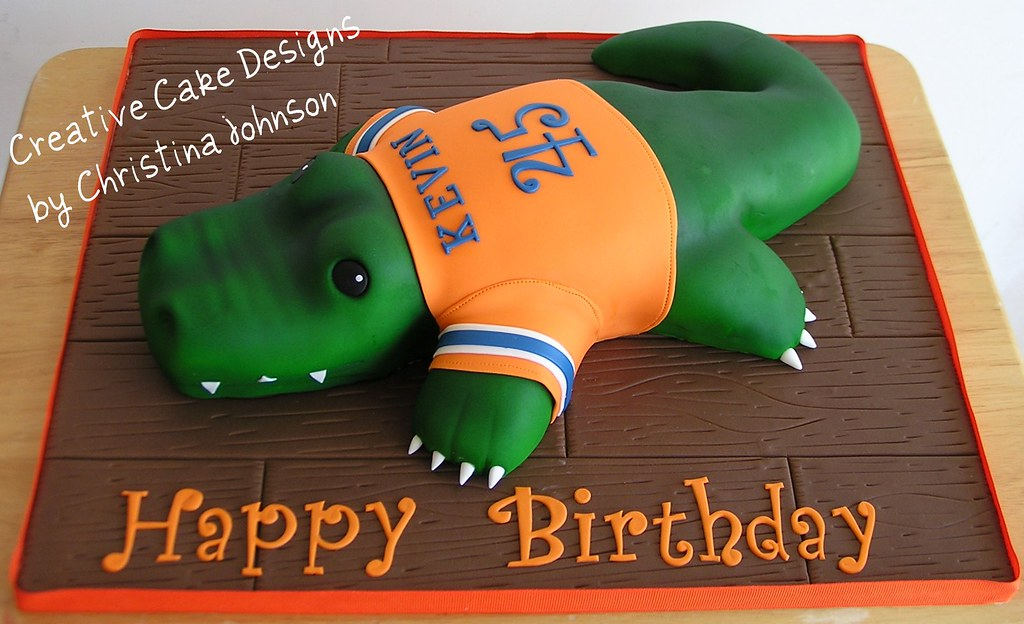 Florida Gator Cake My Most Difficult Cake To Date But So Flickr