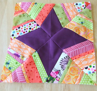 Simple Modern Quilt Bee 2- Block 1 for stayathomelibrarian | by binyourbonnet