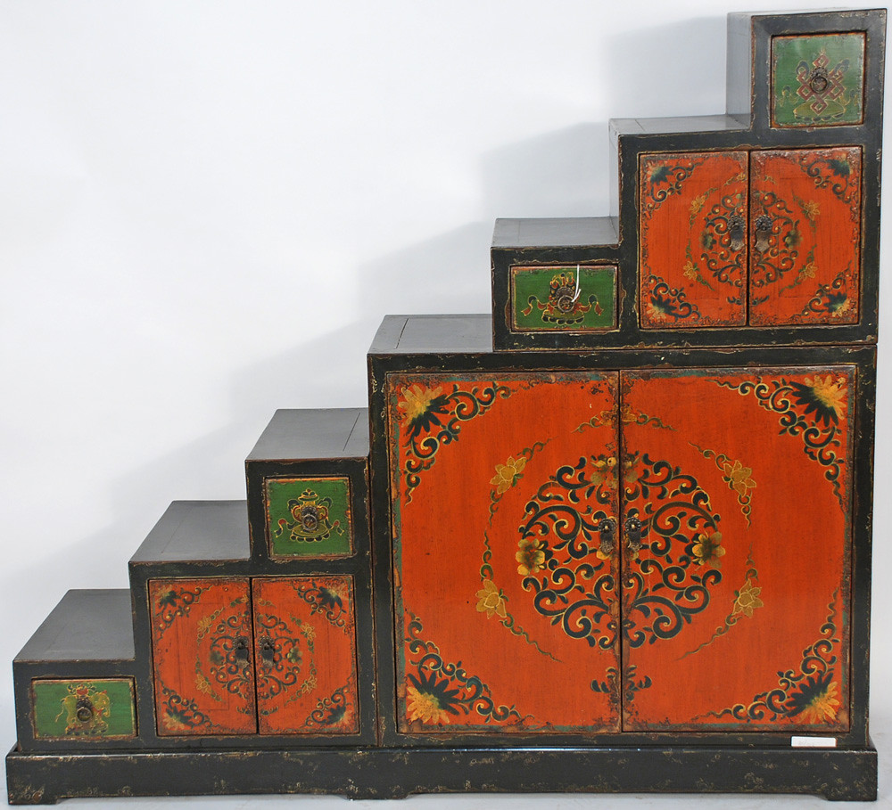 ... BK0029Y Antique Tansu Step Cabinet | By Silk Road Collection
