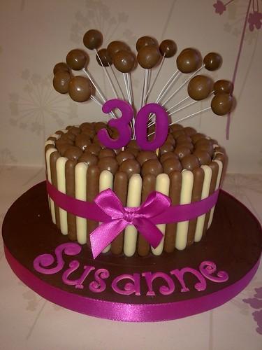 Cake Decorating Newtown : Pink Malteser Cake www.creationsbypaulajane.co.uk ...