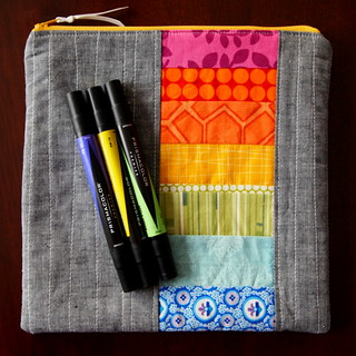 rainbow zip pouch | by Spotted Stone Studio {Krista}