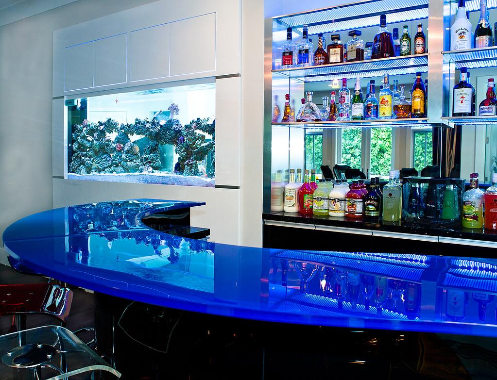 Custom glass countertop bar and aquarium | Alon Toker | Flickr