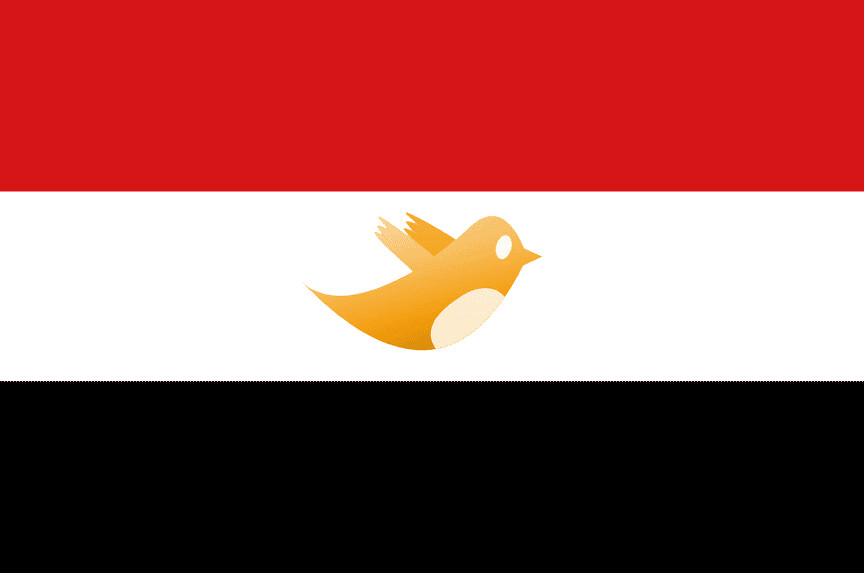 Egyptian flag with twitter bird to the people all power flickr egyptian flag with twitter bird by peoples open graphics sciox Choice Image
