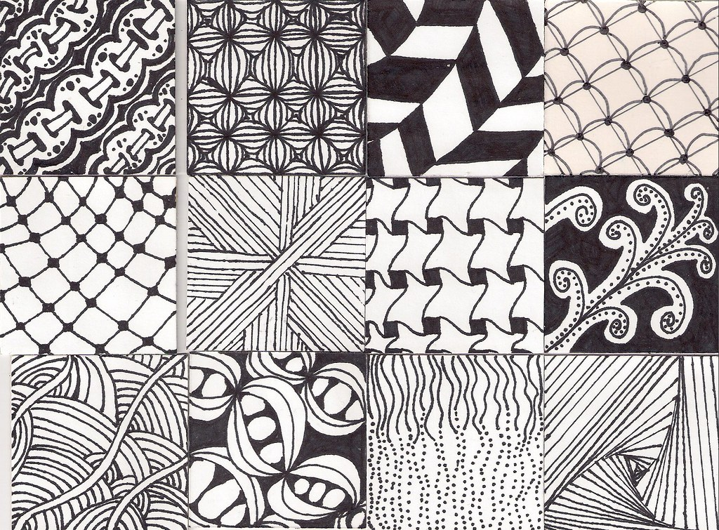 Zentangle Pattern Twinchies Part 60 Top EyeletRibbon Puf Flickr Interesting Zentangle Patterns