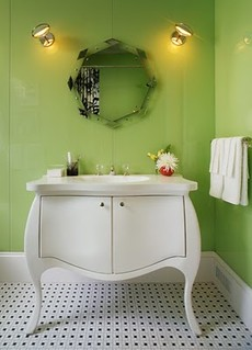 green+bathroom | by Jessie {Creating Happy}