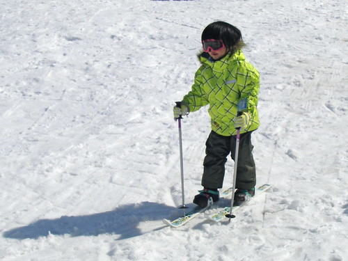 Learning to ski | by Blue Lotus
