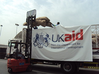 1 March 2011, Dubai: Tents and blankets being loaded, bound for the Tunisia/Libya border | by DFID - UK Department for International Development