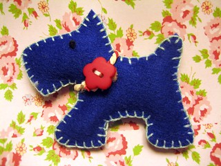 Tiny Scottie Dog Brooch | by RubyRed06
