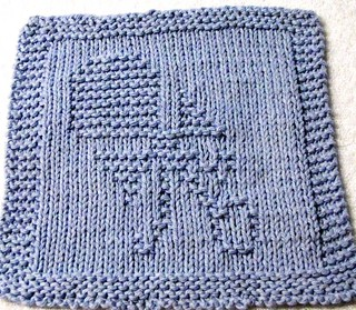 Elephant Washcloth Knitting Pattern : BABY RATTLE KNITTING PATTERN: Washcloth, Dishcloth, pdf ...