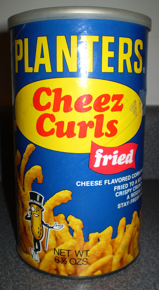 ... Vintage Planters Cheez Curls Can | by gregg_koenig - Vintage Planters Cheez Curls Can Gregg Koenig Flickr