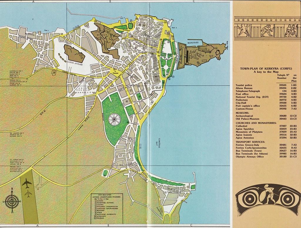 Map of Corfu The city of Corfu Kerkyra on the Island of Flickr
