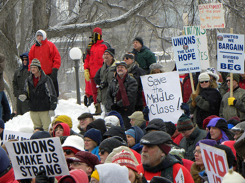 Minnesota rally in solidarity with Wisconsin union protesters | by Fibonacci Blue