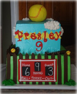 Softball cake. | by TheCakeChic
