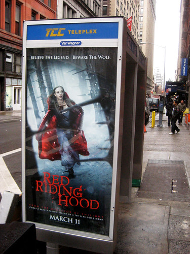 red riding hood movie poster phone booth 4668 red riding