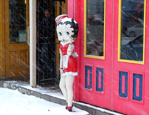 Betty Boop Enjoying The Spring Weather in Toronto | by Still The Oldie