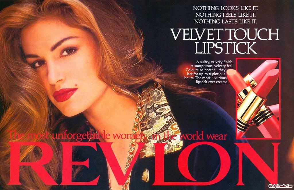 Revlon: Velvet Touch Lipstick ad - (1991) | From 1991: Cindy… | Flickr
