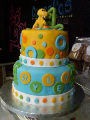 Dinosaur Birthday Cake First Birthday Dinosaur Cake For