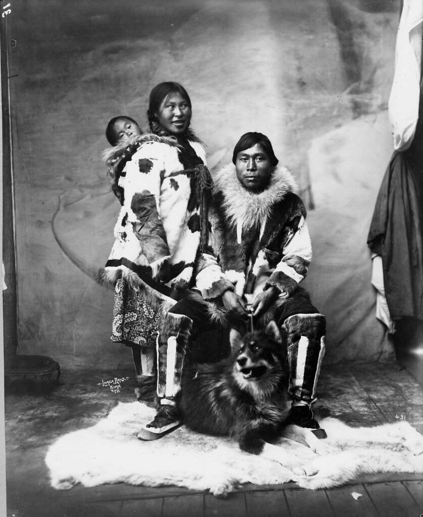 inuit family and dog image no nd 1 73 title inuit family u2026 flickr