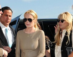 Keith Middlebrook and Lindsay Lohan and Dina Lohan  arriving at the Airport Courthouse in Santa Monica on March 10, 2011. a | by Keith Middlebrook