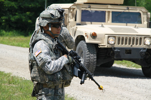 Employers visit TF 183 Soldiers training at Camp Atterbury | by Virginia Guard Public Affairs