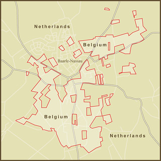 A Map of the very strange border(s) between the Netherland… | Flickr