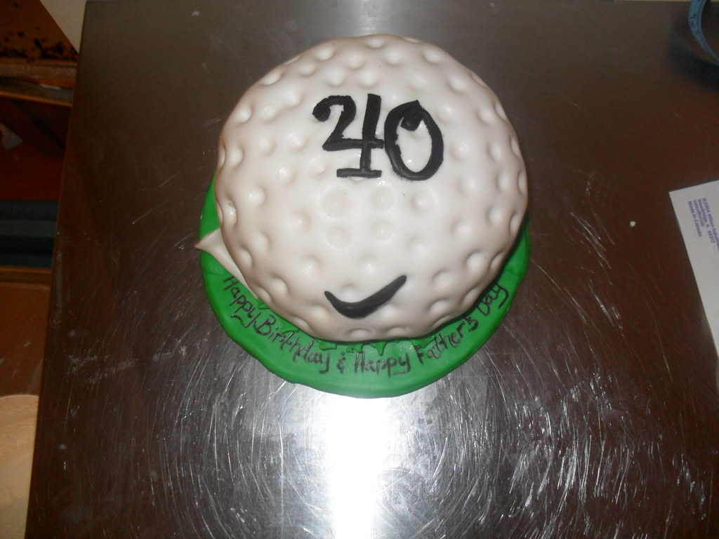 Nike Golf Ball Cake For My Brothers 40th Birthday And Fathers Day