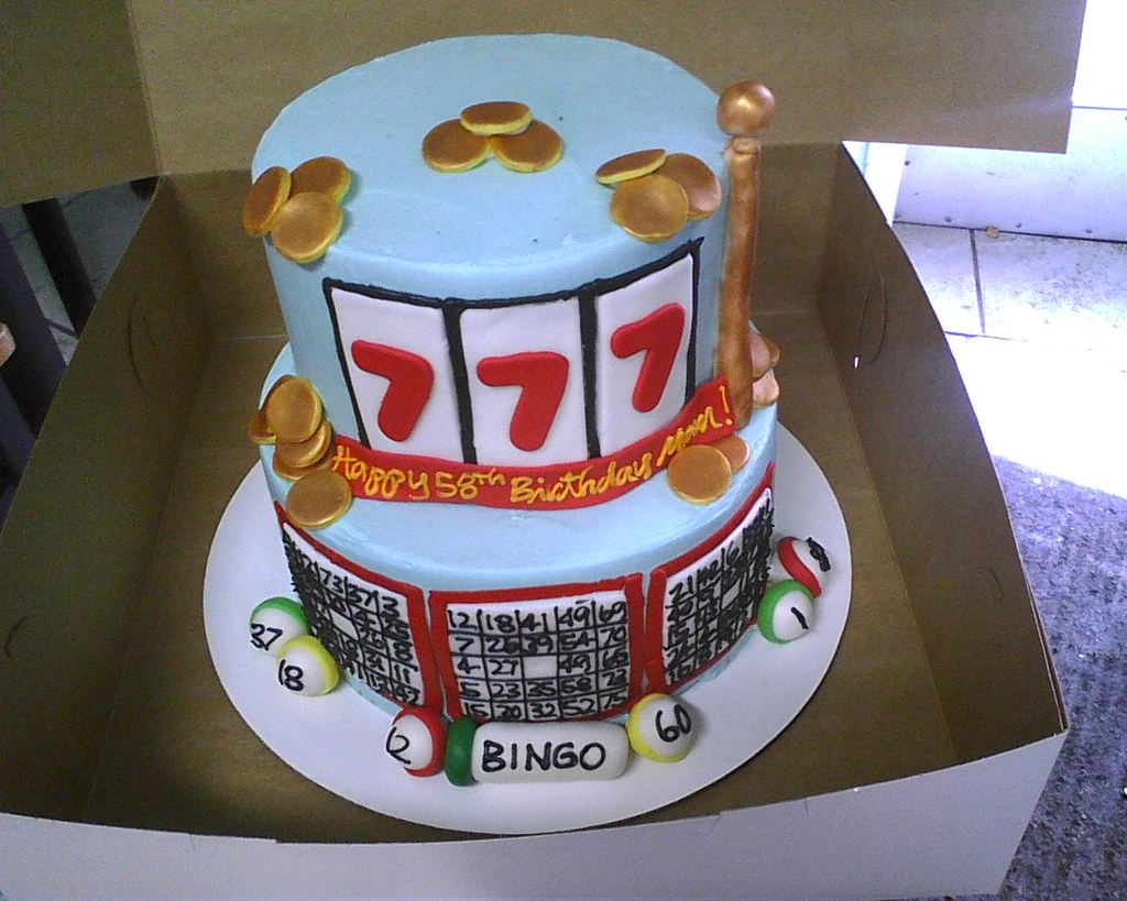 Slot Machine And Bingo Birthday Cake Delicately Delicious Flickr