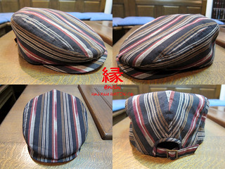 ENISHI Hand Made Hunting Cap SHIMAGASURI 縞絣 | by jun.skywalker (enishi hand made cyclecap)