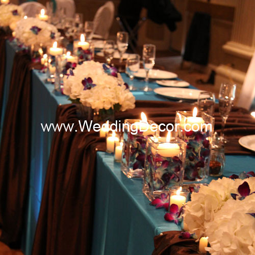 Head Table Decorations Turquoise Brown Head Table Deco Flickr