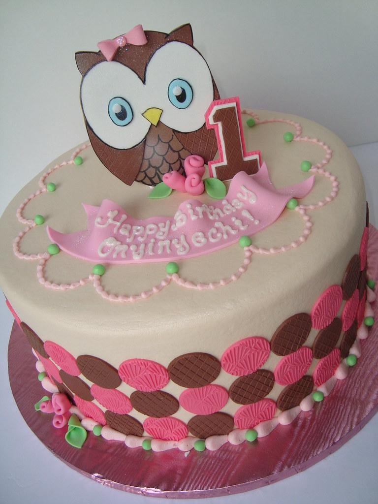 Owl First Birthday Cake Sarah Orr Flickr