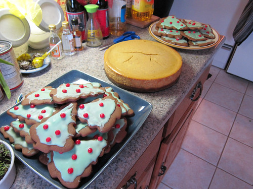 Christmas Tree ginger-molasses cookies and pumpkin cheesec ...