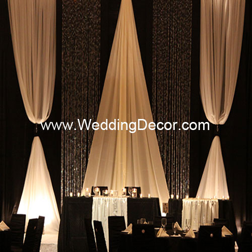 Wedding Backdrop - Black & Ivory | A black and ivory wedding… | Flickr