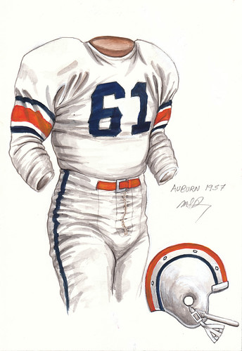 Auburn Tigers 1957 Football Uniform Artwork This Is A