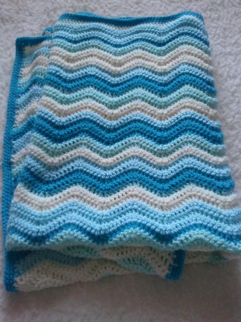 Crochet Baby Boy Ripple Cot Blanket Crochet Ripple Cotcri Flickr