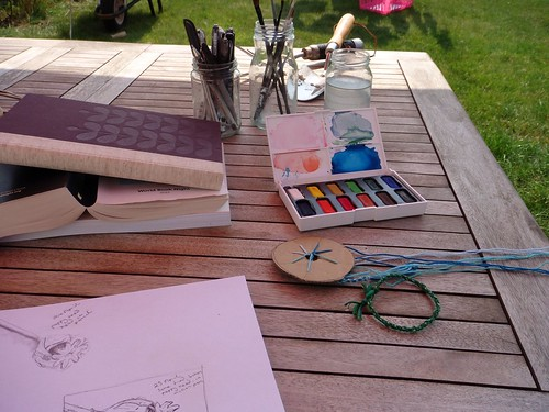 Sketching and braiding in the garden | by ::Christine::