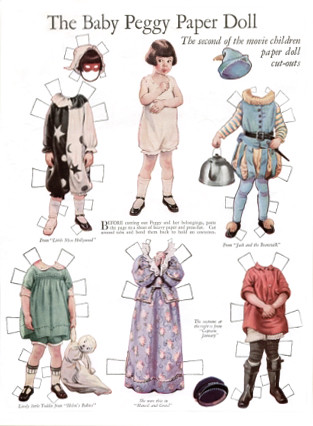 Baby Peggy Paper Doll by Frances Tipton Hunter | by Pearlmatic