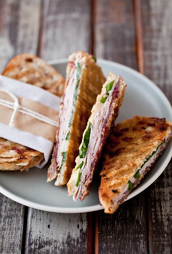 Brie, Turkey And Spinach Panini | by tartelette