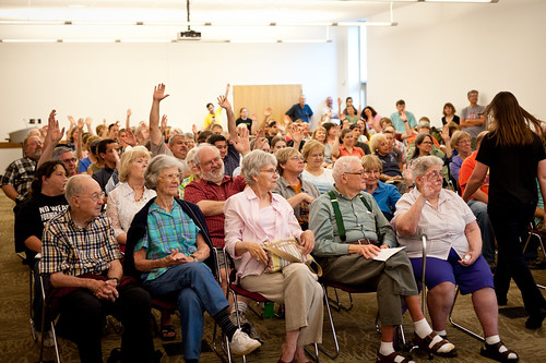 Champaign Library Presentation Crowd (by Karina) | by goingslowly