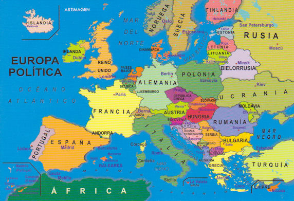 Map of Europe - Written in Spanish | Yvonne Cooper | Flickr