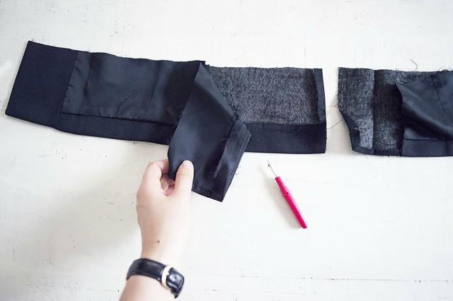 DIY Off the shoulder blazer