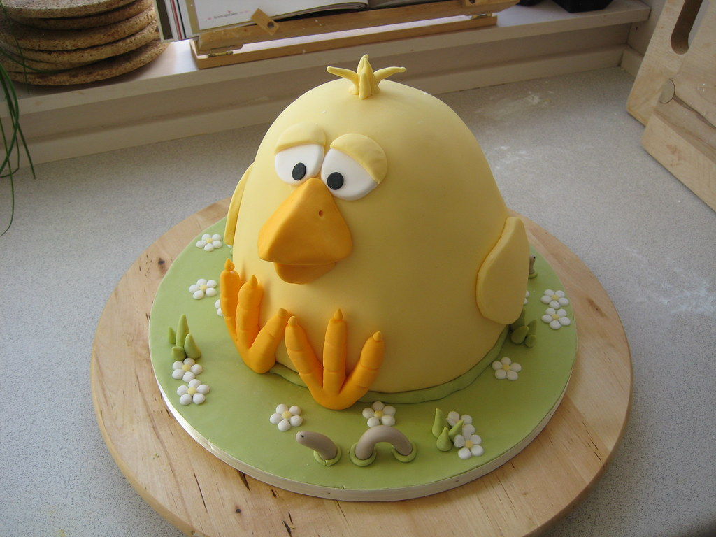 Easter cake this cake is inspired by a chicken cake i saw flickr easter cake by lomfise easter cake by lomfise negle Image collections
