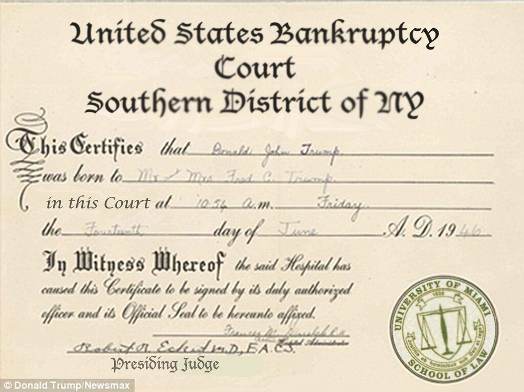 Donald Trumps Birth Certificate Williambanzai7colonel Flick Flickr