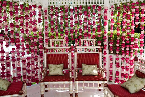 Indian Wedding Gazebo Set Up | by thepalmshotel