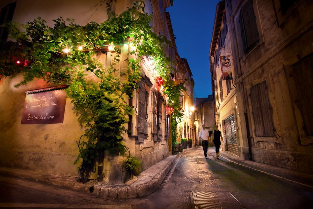 France, Saint Remy De Provence, Night Street Scene | By WanderingtheWorld  (www.