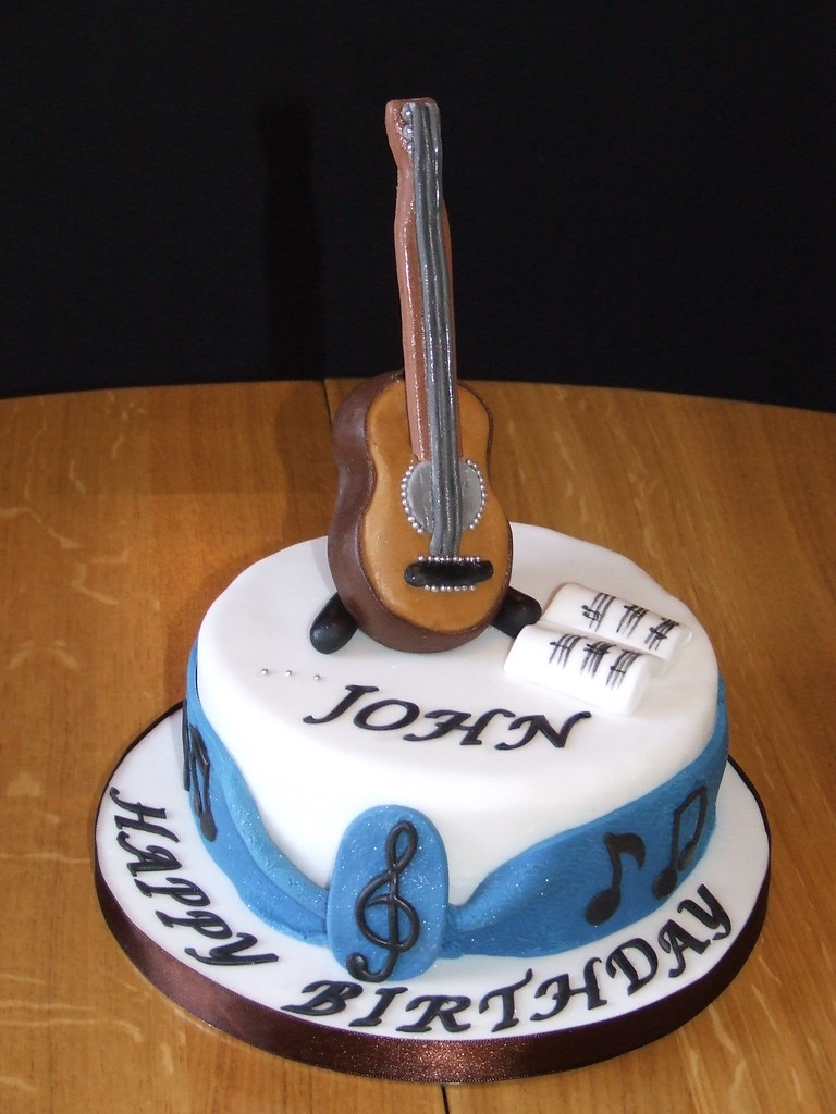 Guitar Birthday Cake Vaydileforic