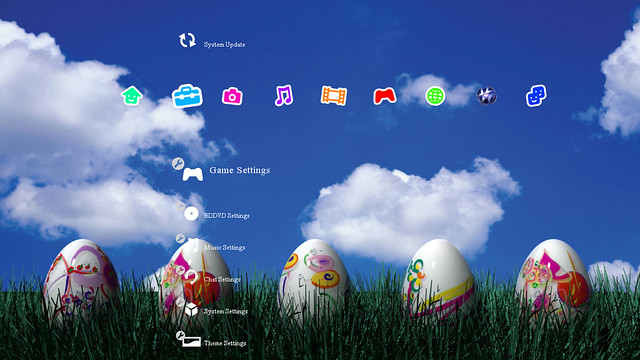Free Easter Egg PS3 Theme booya gadget