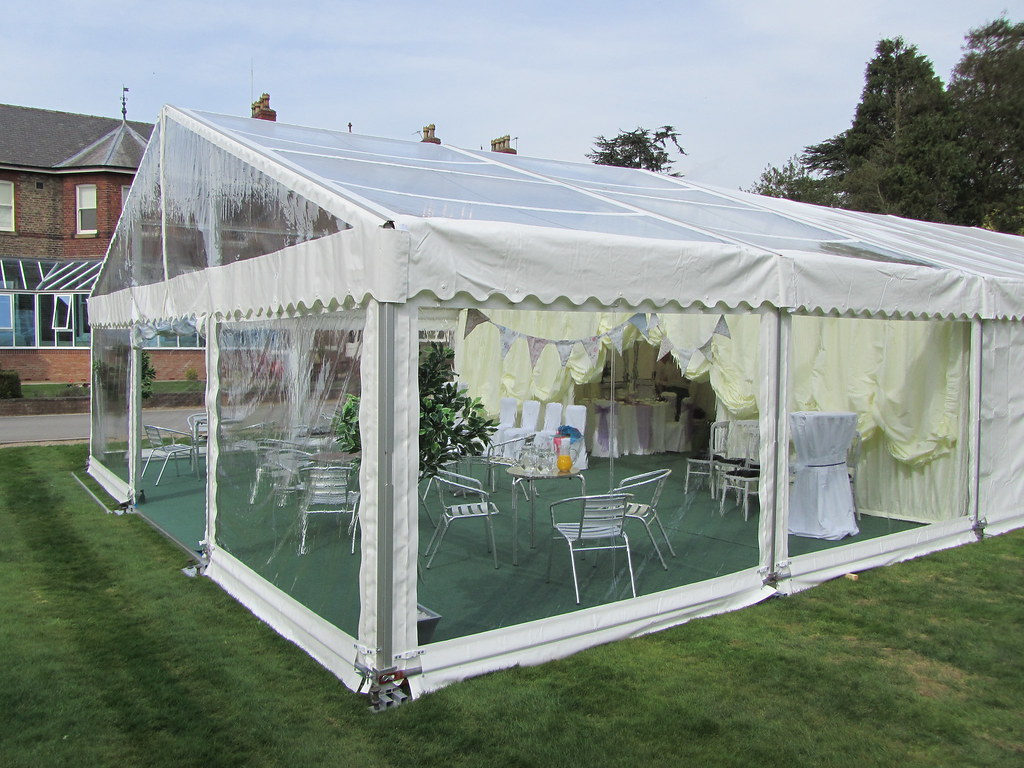 ... Marquee tent with clear gable roofs and walls by Churchill Marquees   by Churchill Marquees & Marquee tent with clear gable roofs and walls by Churchilu2026   Flickr