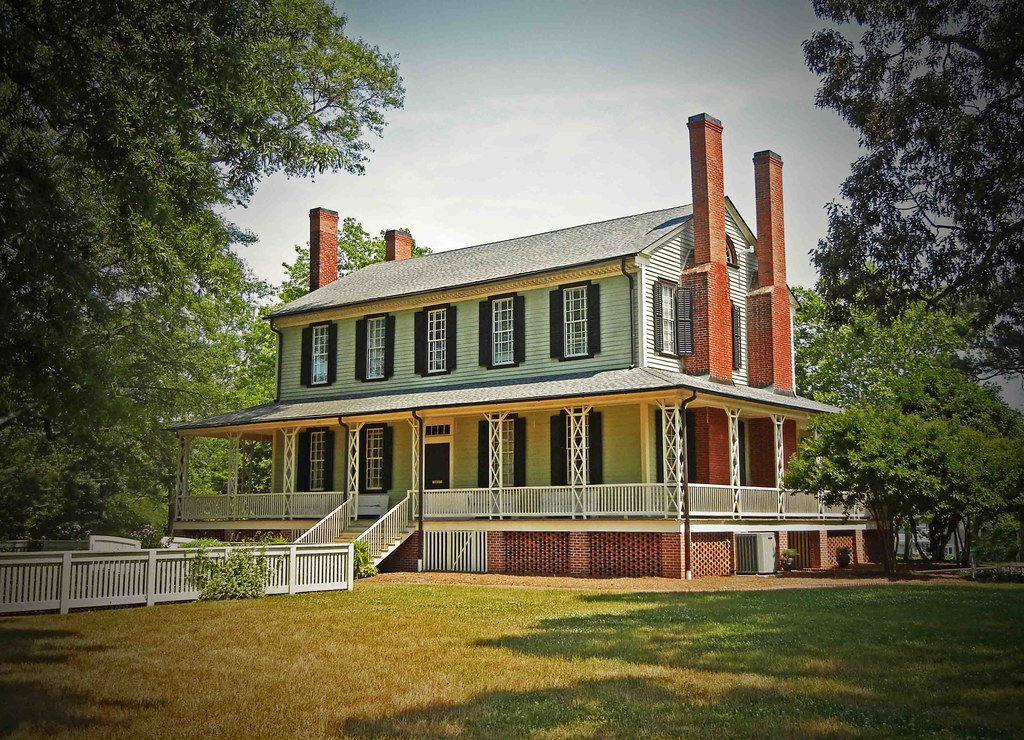 General thomas blount house the grove ca 1808 tarboro for The grove house