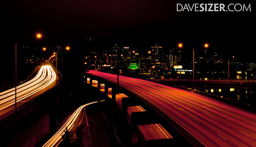 Seattle Skyline at night | by Dave Sizer